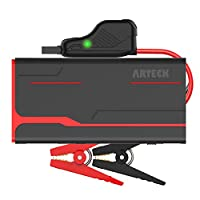 ARTECK 900A Peak Car Jump Starter (Up to 7.0L Gas or 6.5L Diesel) Auto Battery Booster and 18000mAh Portable External Battery Charger for Automotive, Boat, Phone with Adaptors, 12V Jump Leads, LED