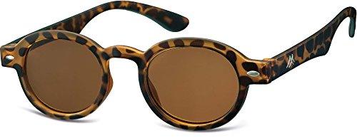 Montana Eyewear Sunoptic MR92AS+2.50 Lesebrille mit braun getönten Gläsern in havanna - Stärke +1.00 Inklusive Soft Etui