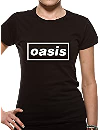 T-Shirt Fitted (Women-M) Black Logo (Black) [Import anglais]