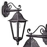 Außenwandleuchte Lignac aus Metall in Schwarz-Antik – klassische Wandleuchte für außen – Außenlampe für Hof – Terrasse – Garten - Veranda – Vintage Design