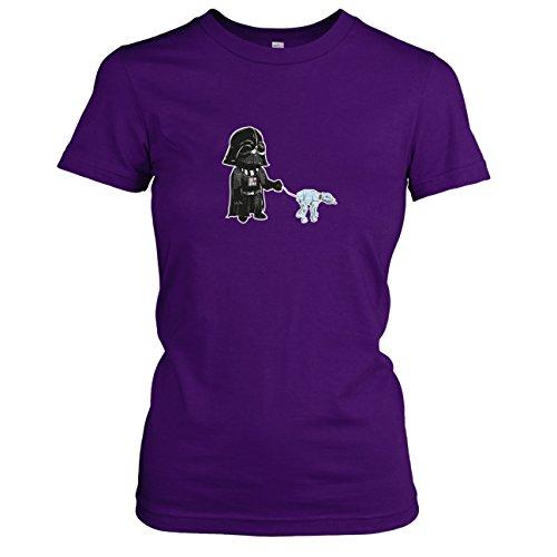 E Star Kostüm Wars Walk (TEXLAB - Vader Walk - Damen T-Shirt, Größe XL,)