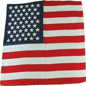 Bannières étoilées USA 100 % Bandana Coton,écharpe,55cm carré ,Tout neuf Article ,Idéal Motards ,Cow-boy fêtes etc...