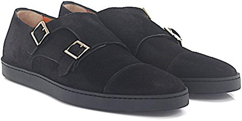 Sneaker Doppel Monk 15021 Veloursleder Schwarz  Billig und erschwinglich Im Verkauf