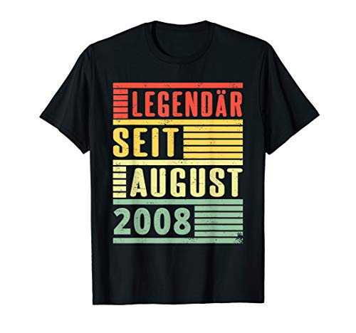 Legendär seit August 2008 11. Geburtstag T-Shirt - 2008 T-shirt