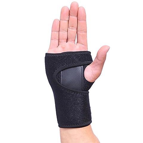 SGIN Handgelenkschiene, Splint für Handgelenkbandage Brace/Orthosis Handgelenk Brace, Ideal zur Karpaltunnelsyndrom, Reduzierung von Schmerzen, Verstauchungen und Arthritis -(Rechte Hand)Black