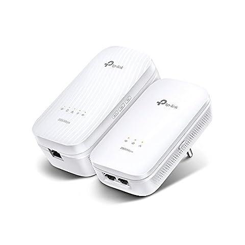 TP-Link CPL AV2000 Wi-Fi Bi-Bande 1200 Mbps, 1 Port Gigabit Ethernet, Pack de 2 CPL (TL-WPA9610 KIT)