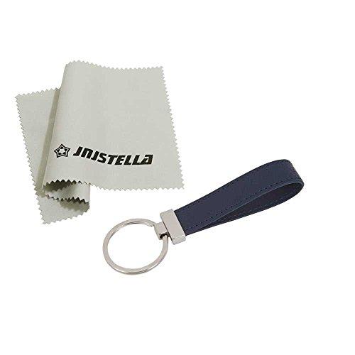 jnjstella Damen Leder Schlüsselanhänger Kette Ring Schlüsselbund One Size Marine - Navy Leder Schlüsselanhänger