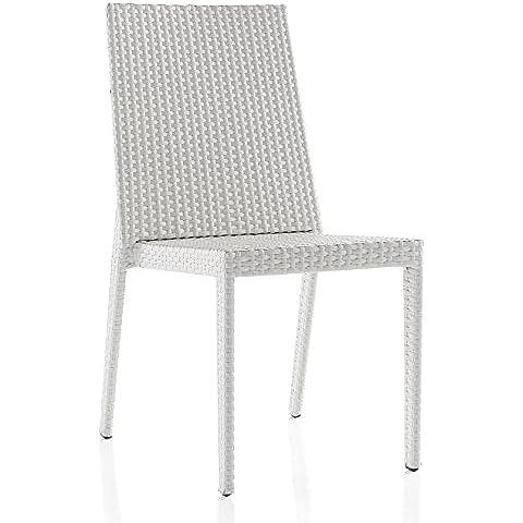 GEESE 5287/Y - Sillón de aluminio y fibra sintética, 62 x 46 x 89 cm, color nogal
