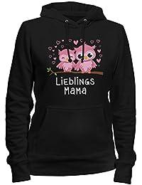 Eulen Lieblingsmama Damen T-Shirt Motiv Geburtstag Geschenk Idee Muttertag Mama