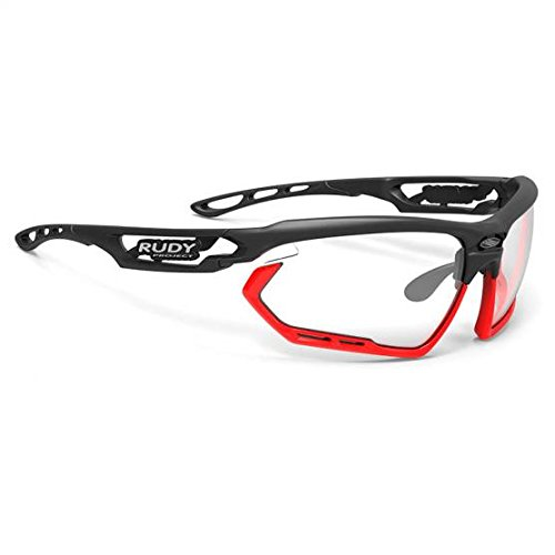 Rudy Project Occhiali Fotonyk, Black Matte/ImpactX Photochromic 2 Black/Orange Fluo