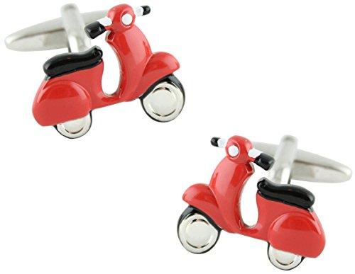 MasGemelos - Gemelos Moto Scooter Roja Cufflinks