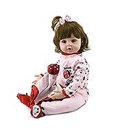"Sausiry Realistic Lifelike Reborn Baby Dolls 18"" Soft Vinyl Silicone Newborn Baby Doll Girl"