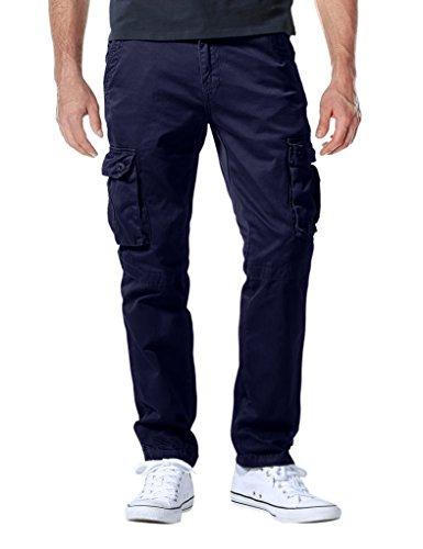Match Herren Cargo hose#3357(6057 Blau violett,34W x Regular (DE 44)) (Camo Blau Herren)