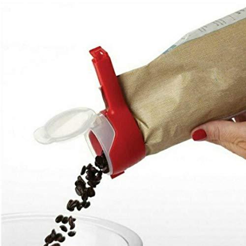 Sello Alimentos Pour bolsa almacenamiento Clip Snack-selladoras