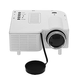 Mini Projecteur Vidéoprojecteur Portable LED Multimédia Vidéo Audio BLANC