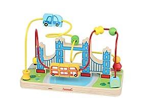Iwood- Laberinto para Bebé de Madera Diseño London Bridge, Multicolor (12014)