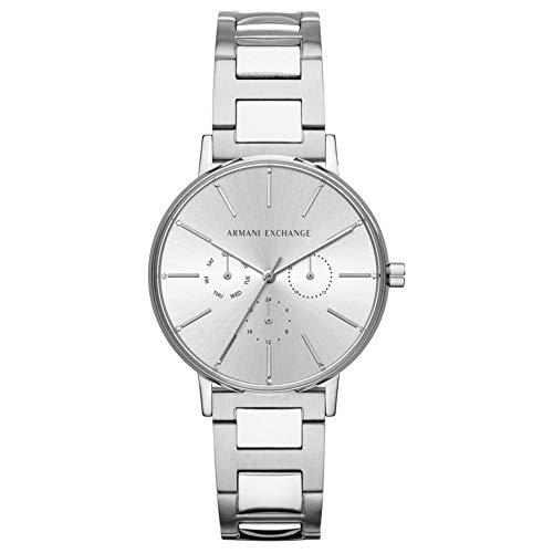 Armani Exchange Damen Analog Quarz Uhr mit Edelstahl Armband AX5551