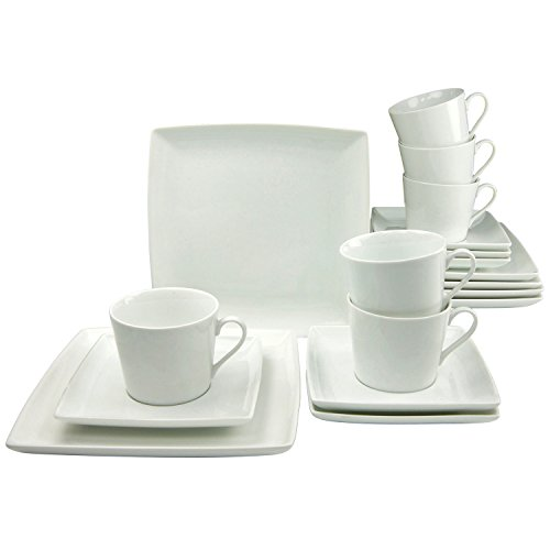 Creatable 19997 Serie ECCO Geschirrset Kaffeeservice 18 teilig, Porzellan, weiß, 38 x 21 x 25 cm,...