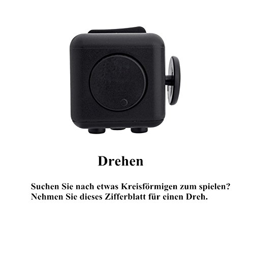 Younger Black Fidget Cube Relieves Stress for Children and Adults - 6