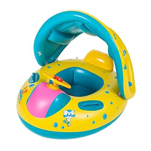 YAAVAAW Baby Schwimmring Baby Float Schwimmreifen Mit Baby Schwimmsitz,Baby Schwimmhilfe Baby Schwimmen Ring,Aufblasbarer Kleinkind Kinder Schwimmreifen Schwimmbad Schwimmring für 6-18 Monate Baby