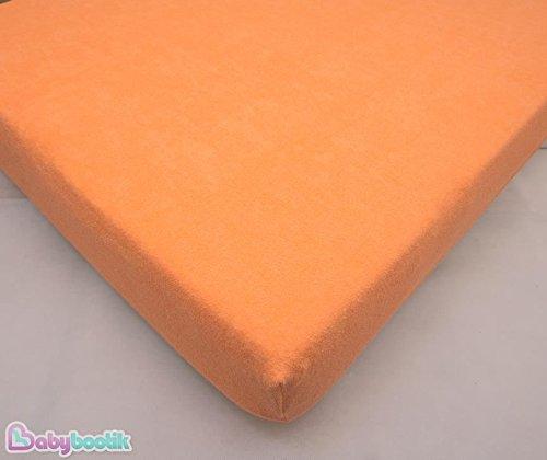 Cuna de rizo sábana bajera ajustable para cama 160x 70cm Junior niños/de–naranja