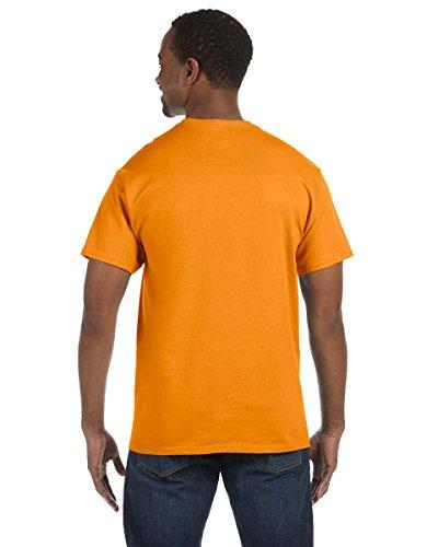 HanesHerren T-Shirt Orange - Safety Orange