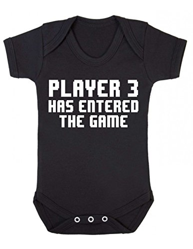 "Bullshirt kurzärmeliger Baby-Body mit Aufschrift ""Player 3 Has Entered The Game"" schwarz schwarz 12-18 Monate"