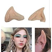"""Orejas de elfo Dealdglad para disfraces, con puntas suaves de látex, látex, 4#, 6.5cmX5cm/2.56""""X1.97"""""""