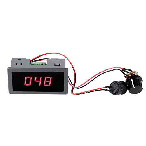 KKmoon 6V 12V 24V Digital Display LED DC Motor Speed Controller PWM stufenlose Geschwindigkeit Steuerschalter - Dc Motor Speed Controller