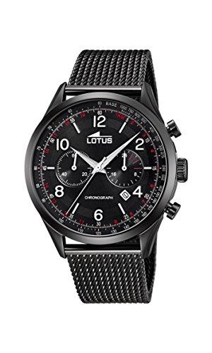 Lotus Watches Reloj Cronógrafo para Hombre de Cuarzo con Correa en Acero Inoxidable 18556/1