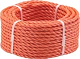 Triuso Mehrzweckseil Seil Tau Leine Schnur Kletterseil orange 20m- 8mm- orange Polypropylen Tau