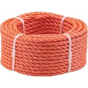 Triuso multiusos cuerda de acero de uva kanirope naranja 20m – 8 millimeter – naranja de polipropileno de soga