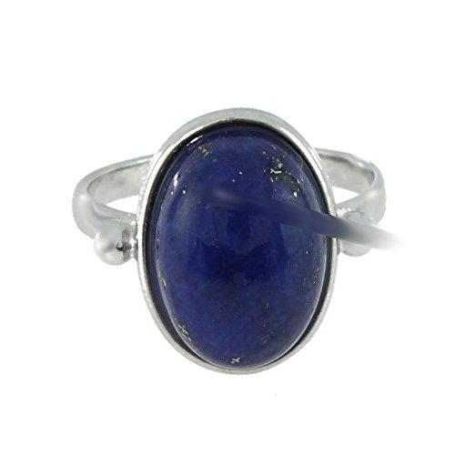 Ring mit Lapis Lazuli 34-09 - Schmuck silbern-rhodiniert aus Lapis Lazuli - Alle Größen und verschiedene Steine - ARTIPOL