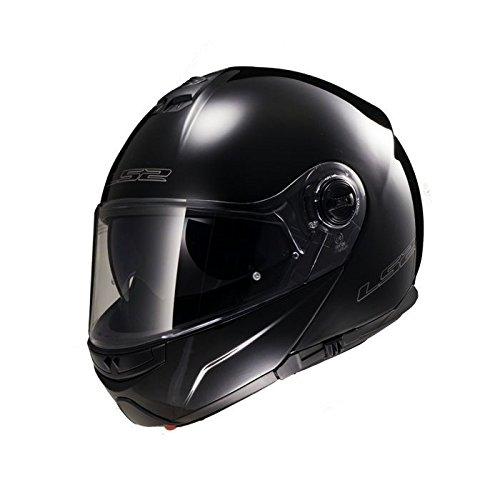 LS2 503251012L FF325 Casco Strobe Solid, Color Negro, Tamaño L