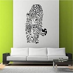 YLGG África Animal Etiqueta De La Pared Abstracta Diseño De Leopardo Decoración De La Pared Tatuajes De Pared 57X100Cm