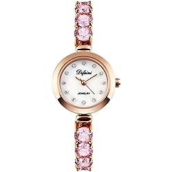fashion ladies Bracelet Watch/Casual business watch/Waterproof quartz diamond watch-C