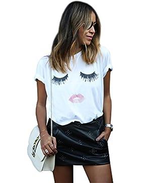 Maglietta T Shirt Donna Magliette Maniche Corte Camicie Top Estive Blusa Eleganti Divertenti Magliette Maniche...