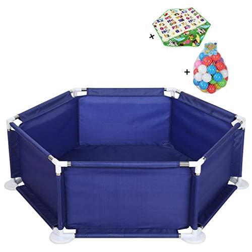 GYX-Laufgitter Baby Zaun Spielen Sie Yard Tents Säuglingsspielgeräte Sicherheit Kids Activity Center (30 Spielbälle sind enthalten, 1 sechseckiges Pad)