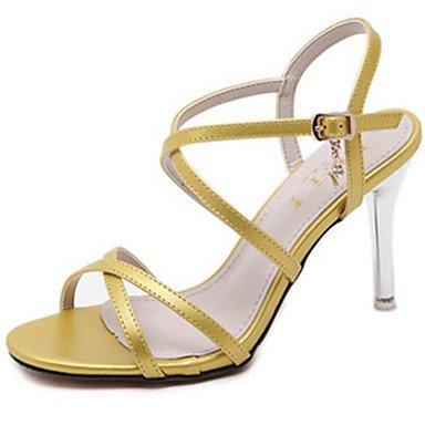 LvYuan Damen-Sandalen-Kleid-Lackleder-Stöckelabsatz-Andere-Schwarz Gelb Rot Weiß Black