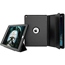 iPad Mini 3 2 1 Funda,HAVE1SEE Built in Screen Film Auto Wake Up & Sleep Shockproof Rugged Hybrid Stand Flip Folio Protective Smart Funda Cover Apple Mini 3/2/1 Black