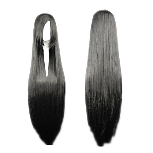 COSPLAZA Cosplay Wigs Kostueme Peruecke FINAL FANTASY Vincent Valentine Schwarz 100cm Haar (Vincent Valentine Kostüm)