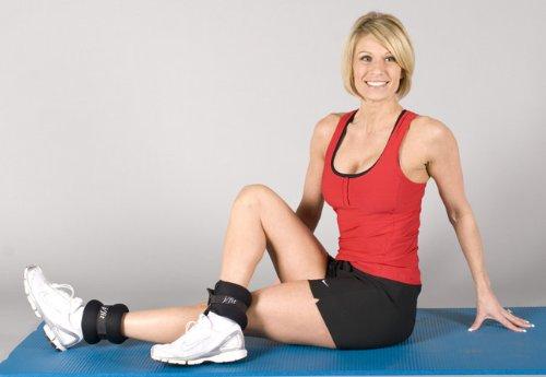 J-FIT Ergonomische Knöchelgewichte aus Neopren (je 2,5 lb)