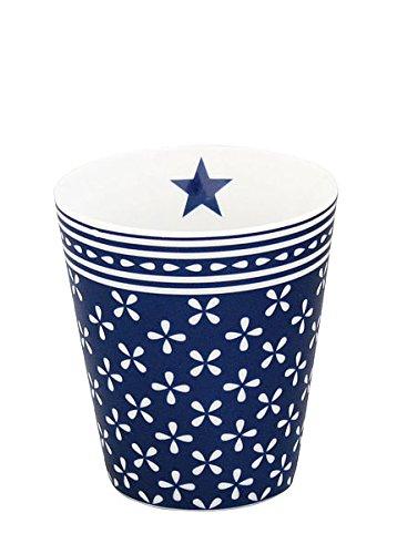 Krasilnikoff - Mug/Becher/Tasse - Porzellan - blau -weiß geblümt - Höhe 10cm Blau Weiß Mugs