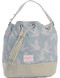 Brakeburn Damen Birds Bucket Bag Schultertasche, Blau (Light Blue), 17.5 x 26 x 50 cm