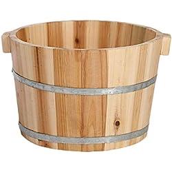 Baño de pies Abeto Pedicura Barril, baño de pies de madera, baño de pies para el hogar