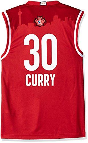adidas NBA Golden State Warriors Stephen Curry Herren 16West Replica Jersey, Herren, rot (Goldener Curry Mix)