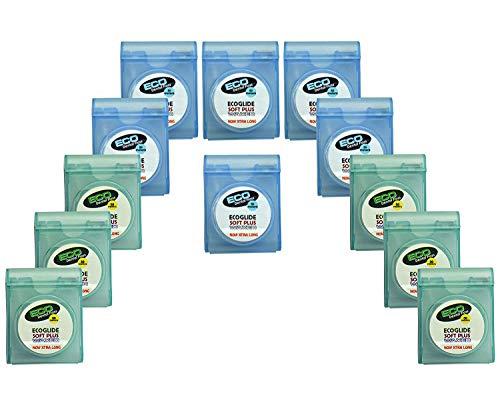 12x Ecoglide Soft Plus gewachst Zahnseide 50m -