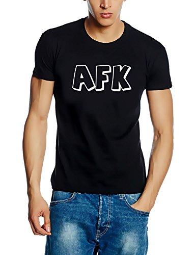 Coole Fun T-Shirts AFK Away from Keyboard Counter t-Shirt -, schwarz/Weiss, Grösse: L -