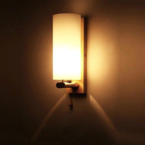Bronze Marokkanische Wandleuchte (Modern Einfache Elegante Glass Eiche Material Wandlampe Kreative Design zylindrisch Korridor Wandleuchte Passend Schlafzimmer Foyer Restaurant Hote bar Cafe Loft Wandbeleuchtung)