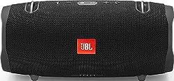JBL Xtreme 2 Musikbox in Schwarz (Wasserdichter, portabler Stereo Bluetooth Speaker mit integrierter Powerbank - Mit nur einer Akku-Ladung bis zu 15 Stunden Musikgenuss)